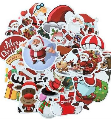 25 Sticker mit Weihnachtsmotiven für 0,94€