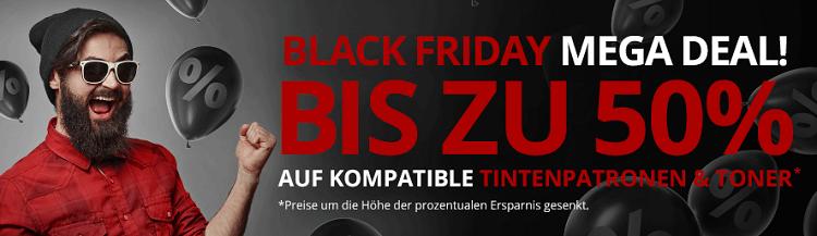 Druckerzubehör Black Freitag Mega Deal mit bis zu 50% Rabatt auf Tintenpatronen & Toner