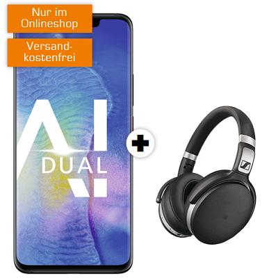 Huawei Mate 20 Pro + Sennheiser HD 4.50 nur 29€ + md Telekom Tarif mit 8GB für 36,99€ mtl.
