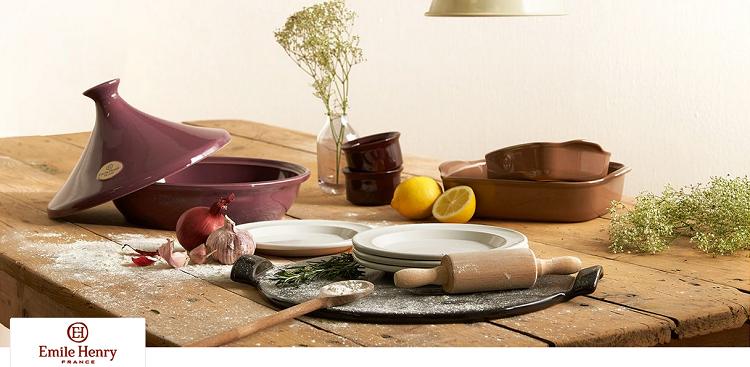 Emile Henry Keramik Tajines, Töpfe und Koch Accessoire im Sale bei Vente Privee   z.B. Tajines (26 cm Durchmesser) ab 34,99€