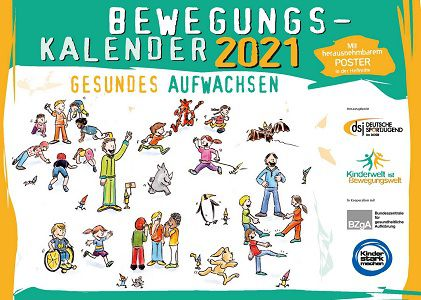 Gratis: Bewegungskalender für 2021 der Deutschen Sportjugend