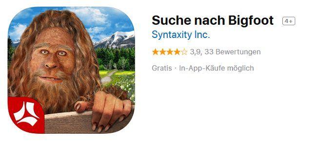 iOS: Suche nach Bigfoot kostenlos (statt 4,49€)