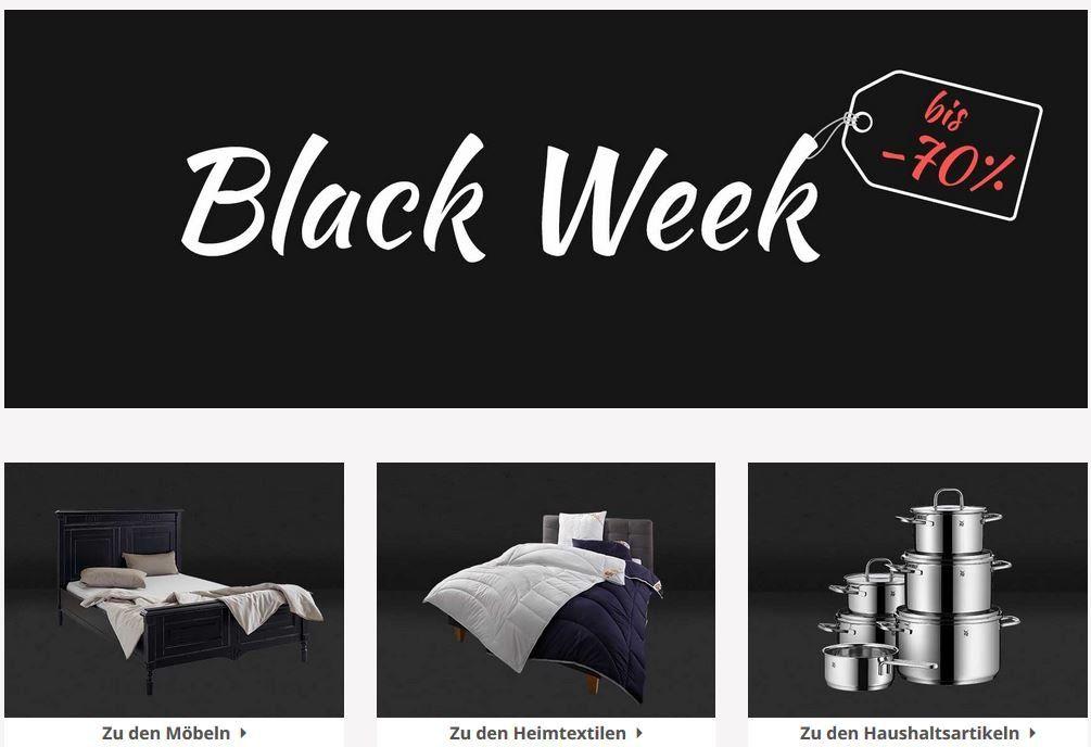 Yourhome Black Week mit bis 70% auf Möbel, Heimtextilen und Haushaltsartikeln