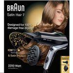 BRAUN Satin Hair 7 HD 730 Haartrockner + Diffusor für 29,99€ (statt 38€)