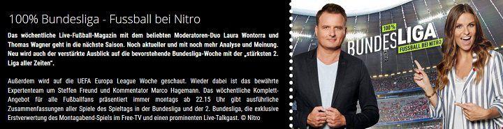 "Freikarten: ""100% Bundesliga   Fussball bei Nitro"" für Januar & Februar"