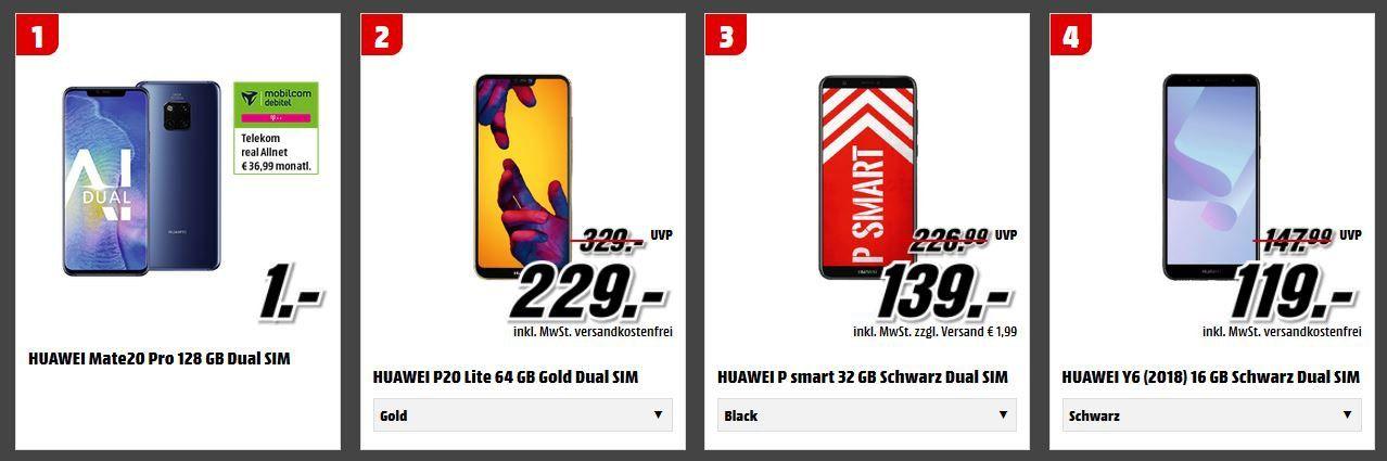 Media Markt Tiefpreis Couch: z.B. HUAWEI MediaPad T5 32 GB 10.1 Zoll Tablet für 189€