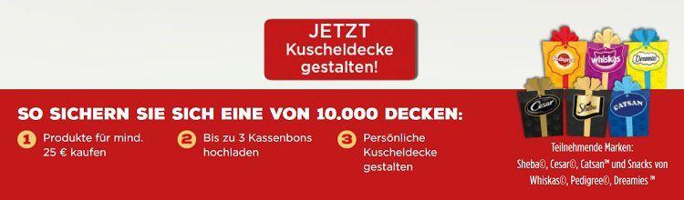 Gratis Kuscheldecke für eure Vierbeiner ab 25€ Einkauf