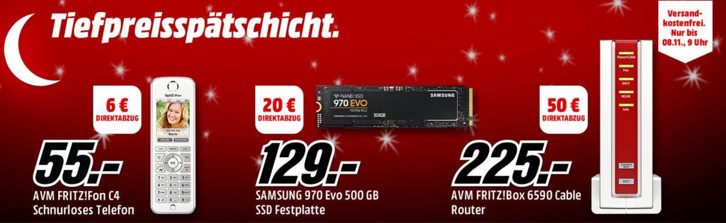 Media Markt Tiefpreisspätschicht: z.B. SAMSUNG NVMe SSD 970 Evo, 500 GB SSD für 109€ (statt 120€)