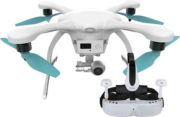 Wieder da! EHANG Ghost 4K Drohne (iOS) in Weiß inkl. VR Brille für 299€ (statt 804€)