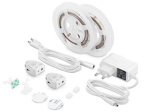 2 LED Stripes mit Bewegungsmelder für das Bett z.B. für 12,39€