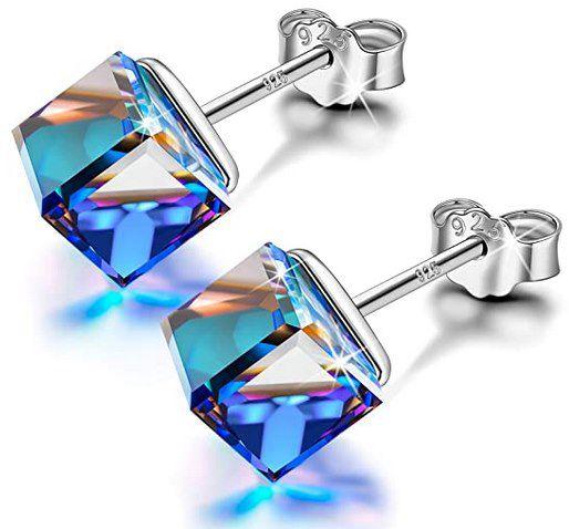 Alex Perry Blaue Ohrringe inkl. Schmuckkästchen für je 8,98€ (statt 16€)   Prime