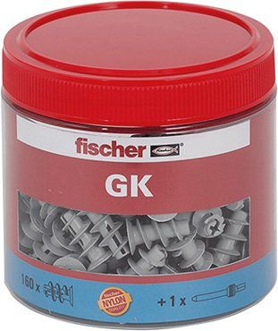 FISCHER BEFESTIGUNG 531028 Gipskartondübel GK Dose mit 160 St. für 18,49€ (statt 23€)