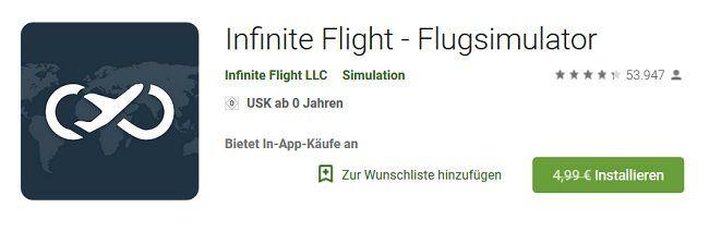 Infinite Flight   Flugsimulator : Für Android kostenlos (statt 4,99€)