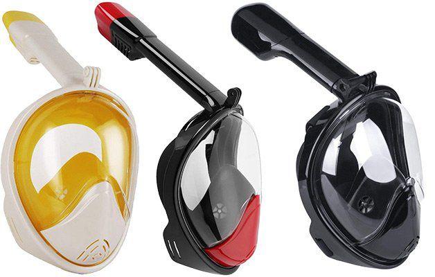 LeaningTech Schnorchelmaske mit Kamerahaltung für 9,99€   Prime
