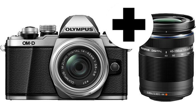 Olympus OM D E M10 Mark II Systemkamera mit Objektiv 14 42 mm II R + Zusatzakku für 499€ (statt 657€)