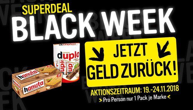 Black Week   Cashback für Duplo und/oder Hanuta