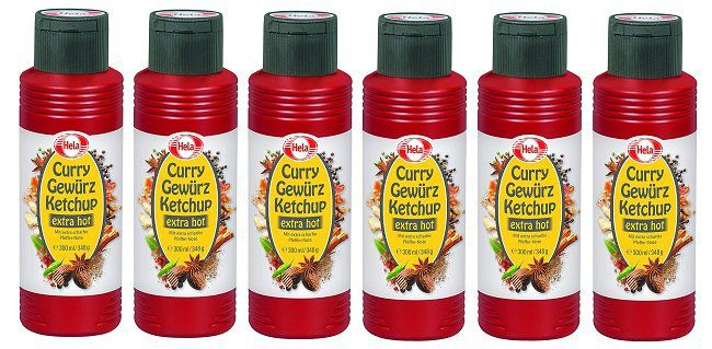 6 x Hela Curry Gewürz Ketchup extreme hot für 7,77€ (statt 12€)