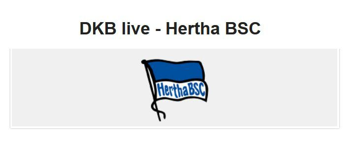 Für DKB Aktivkunden: Gratis 2 Tickets Hertha BSC vs. TSG 1899 Hoffenheim