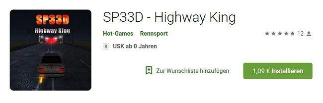 SP33D   Highway King für Android kostenlos (statt 1,09€)