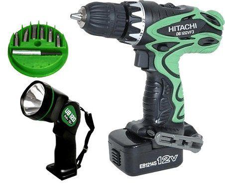 Hitachi DS 12DVF3 Akku Bohrschrauber und Taschenlampe (mit 2 Akkus) für 79,95€ (statt 123€)