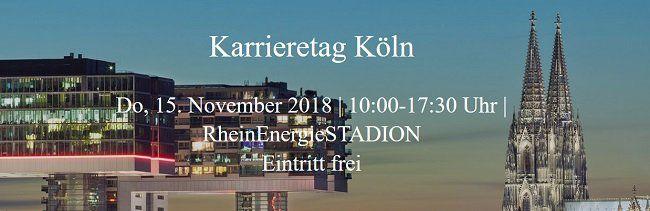 Freier Eintritt zum Karrieretag am 15.11.2018 in Köln