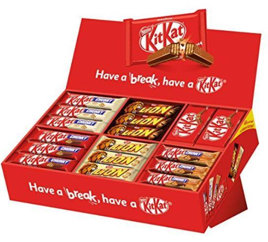 2,8kg Nestlé Party Box (mit 6 Sorten KitKat und Lion & Co.) 68 Riegel ab 24,49€ (statt 33€) Prime