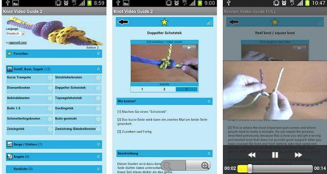 Kostenlos für Android: Knoten Video Guide 2