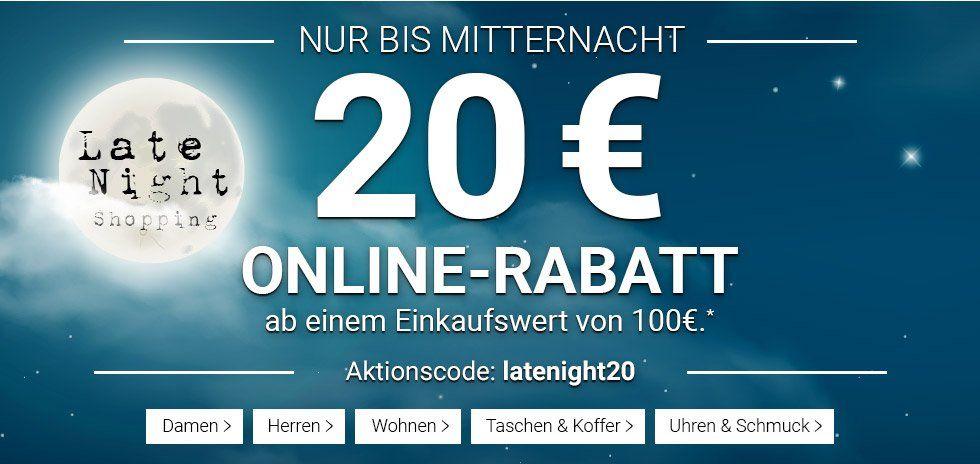 Karstadt Late Night mit 20€ Rabatt auf (fast) alles ab 100€ bis Mitternacht!