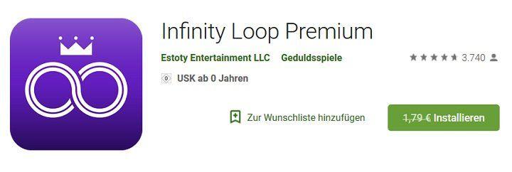 Android: Kostenloses (statt 1,79€) Puzzlespiel   Infinity Loop Premium