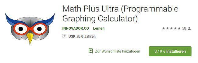 Math Plus Ultra für Android kostenlos (statt 3,19€)