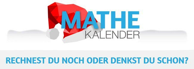 Gratis: Digitaler Mathe Advents Kalender zum Tüfteln