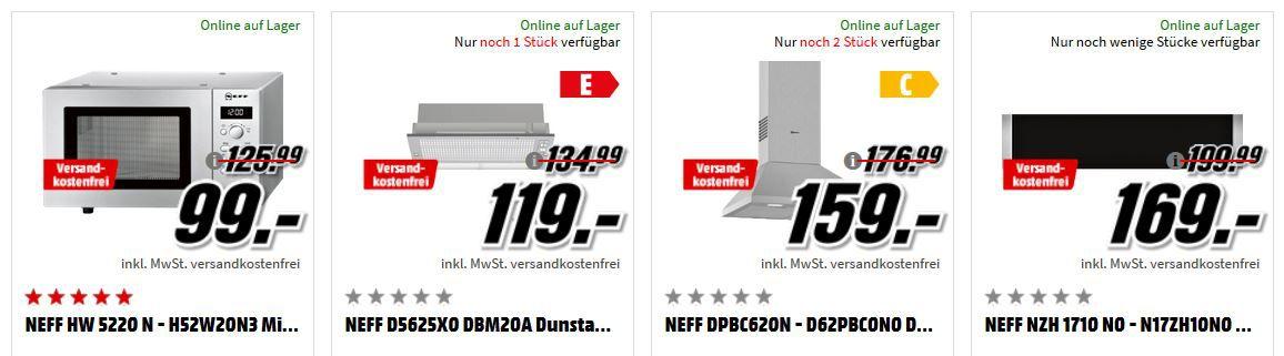 Media Markt Mega Marken Sparen: günstige Artikel von Sony, LG, Neff und Bauknecht