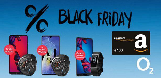 Abgelaufen! o2 Black Freitag Deal: 100€ Bonus für o2 Free M Tarife + Smartphone ab 1€ (z.B. iPhone XR, Huawei Bundles...)   Tarif eff. kostenlos