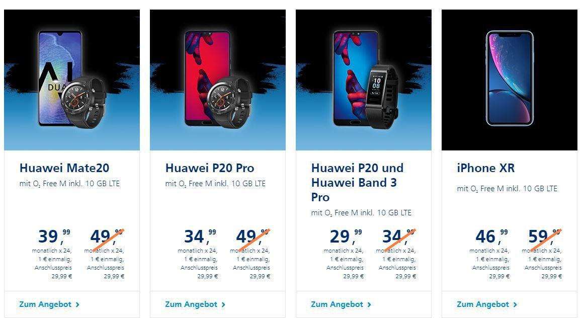 ? o2 Black Freitag Deal: 100€ Bonus für o2 Free M Tarife + Smartphone ab 1€ (z.B. iPhone XR, Huawei Bundles...)   Tarif eff. kostenlos