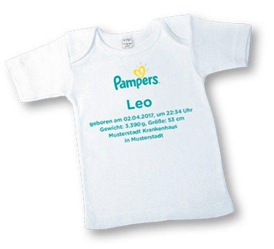 Pampers: Personalisiertes Baby T Shirt gratis bestellen