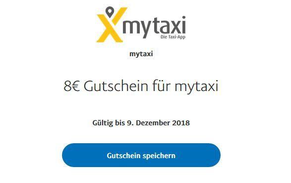 8€ Mytaxi Guthaben von PayPal gratis