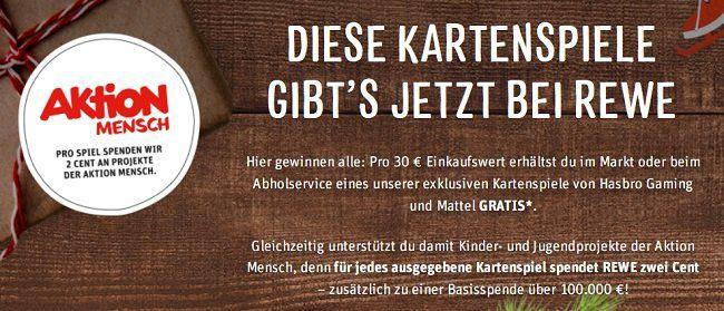Rewe: Kostenloses Kartenspiel ab 30€ Einkaufswert