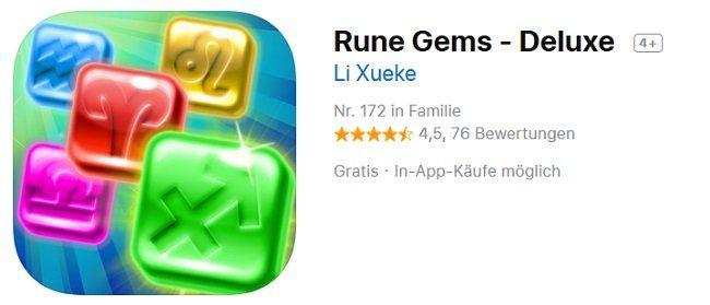 iOS: kostenlos statt 3,99€   Rune Gems   Deluxe