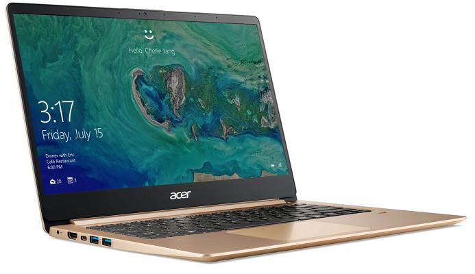 ACER Swift 1 (SF114 32 P8HV)   14 Notebook mit Windows 10 + 4 GB RAM & 128 GB SSD für 419€ (statt 519€)