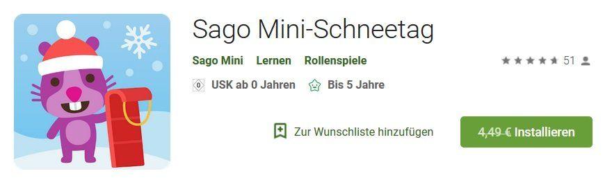 Android: Sago Mini Schneetag kostenlos (statt 4,49€)