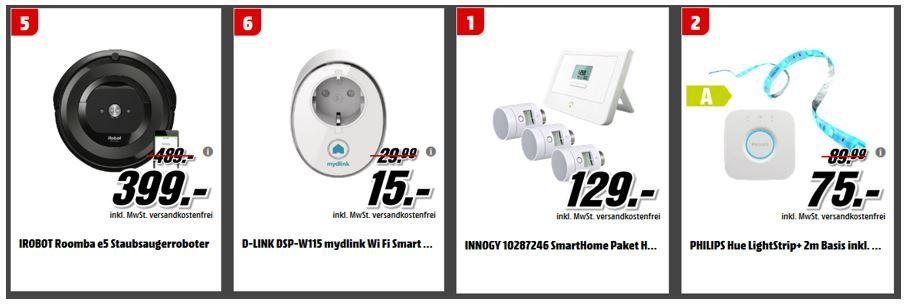 Media Markt Tiefpreis Couch: z.B. IROBOT Roomba e5 Staubsaugerroboter für 399, € statt 489€