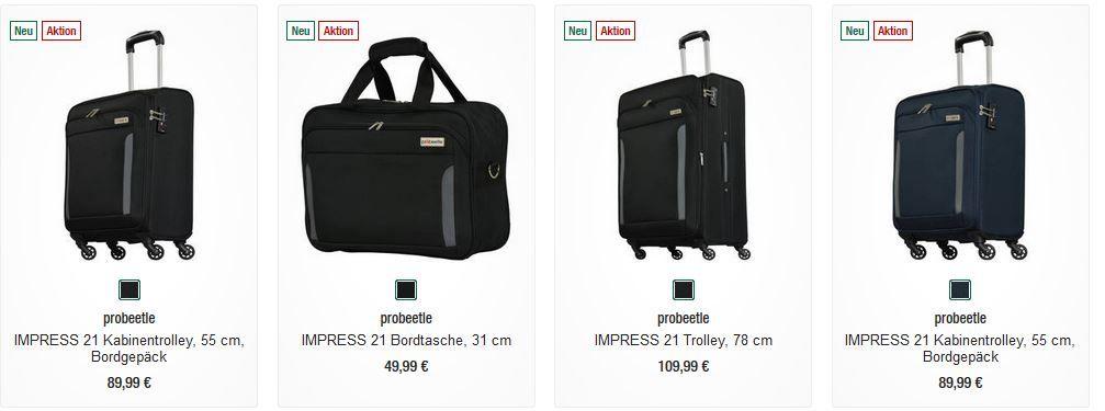 probeetle IMPRESS 3 teiliges Kofferset für nur 99€