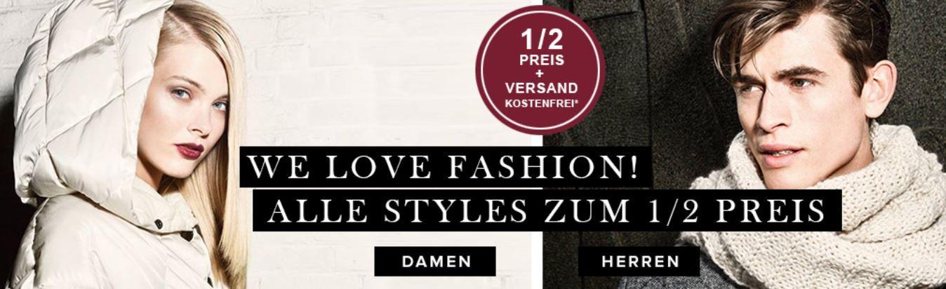 Nur heute! dress for less mit 50% Rabatt auf ALLES + 10% Gutschein   z.B. Benetton Basic Pullover mit Rundhals ab 17€