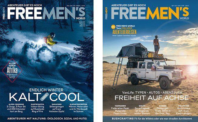 4 Ausgaben Free Mens World für 23,20€ + 15€ Verrechnungsscheck