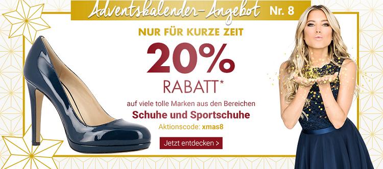 Karstadt Adventskracher mit 20% auf ausgewählte Schuhe