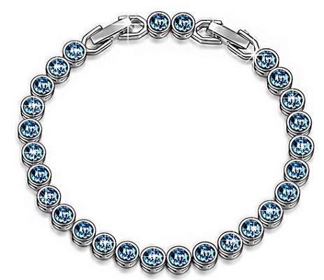 Susan Y Armband Ozean mit blauen Swarovski Steinen für 11,99€ (statt 25€)
