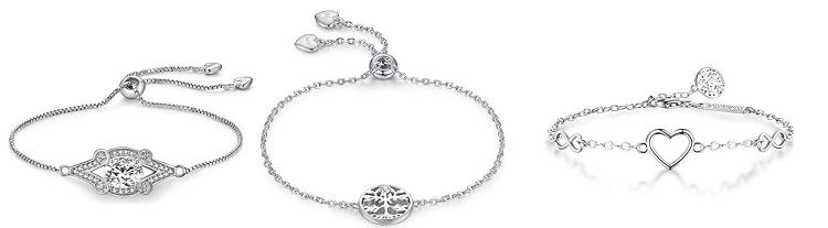 WISHMISS Armband aus Sterlingsilber in verschiedenen Motiven für je 10,64€ (statt 28€)