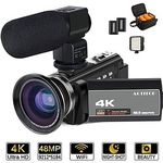 ACTITOP MCT-1 – 4K Camcorder mit Nachtsicht, externem Mikrofon & LEDs für 117,99€ (statt 204€)