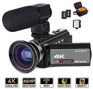 ACTITOP MCT 1   4K Camcorder mit Nachtsicht, externem Mikrofon & LEDs für 117,99€ (statt 204€)