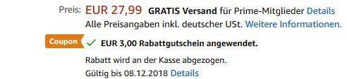 Leichter Rucksack mit 18 Litern Inhalt für 10,99€ (statt 28€)